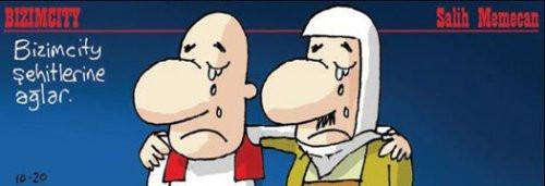24 şehit karikatürlerin gündeminde
