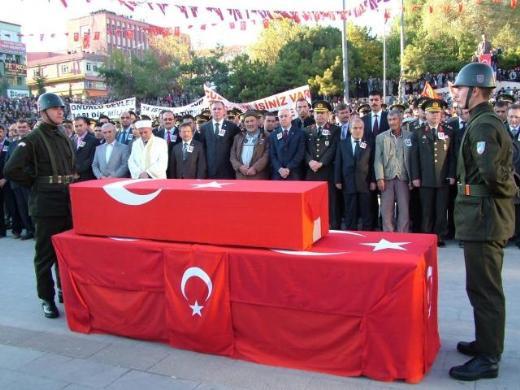 Şehit üsteğmen Murat Bekin cenazesi