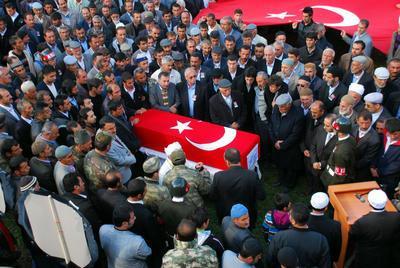 Şehit Ahmet Tuncelin cenazesi