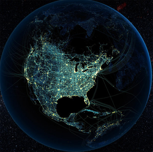 Hava trafiği uzaydan böyle görüntülendi