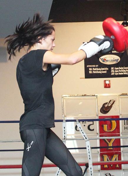Adriana boks antrenmanında