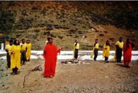 PKK kamplarında ayin görüntüleri