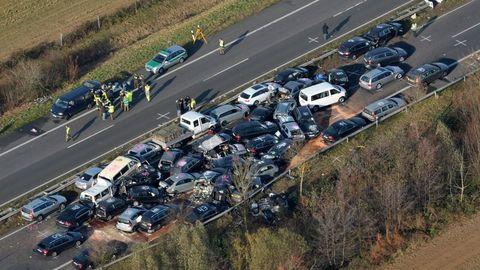 Araçlar böyle birbirine girdi !