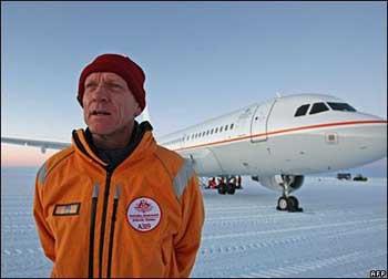 Buz kaplı piste yolculuk