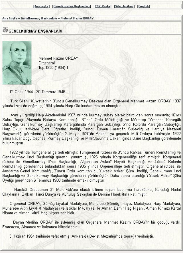 Cumhuriyet tarihinin Genelkurmay Başkanları !