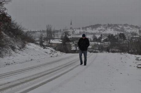 Edirnede kar yağdı