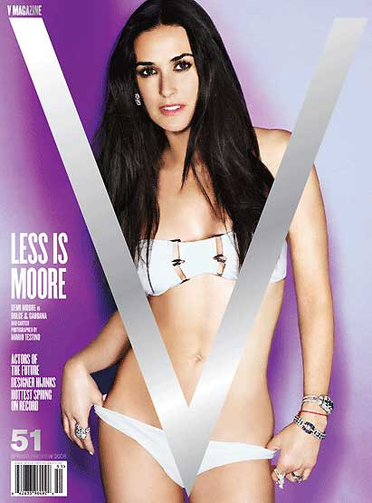 Demi Moore V Magazineye kapak oldu