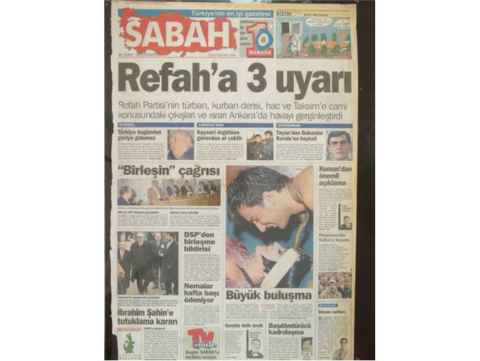 O günün gazete manşetleri ile 28 Şubat