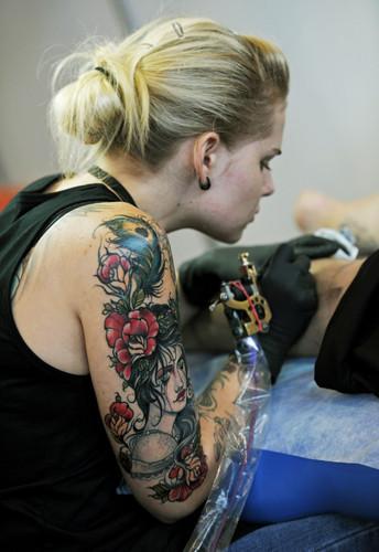 Arjantinde dövme şovu