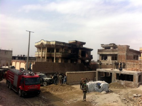 Afganistandaki kazadan ilk kareler