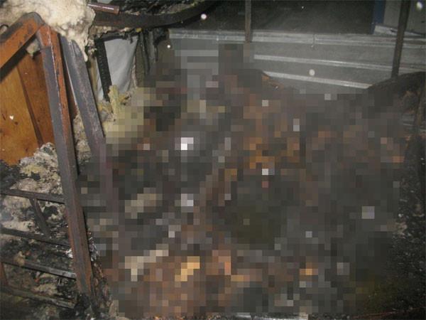 Çadır yangınında dehşet fotoğraflar