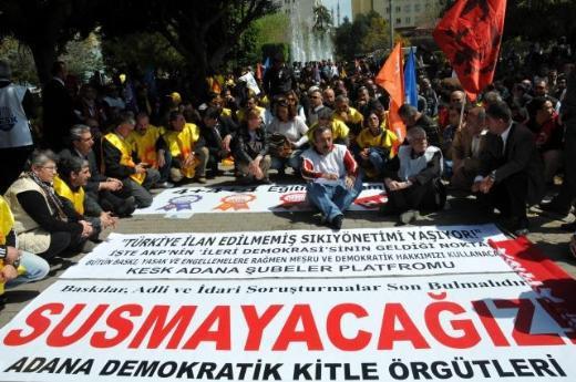 Adanada 4+4+4 protestosu !