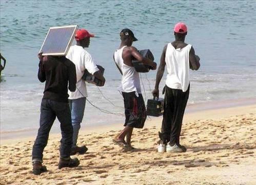Güldüren plaj fotoğrafları