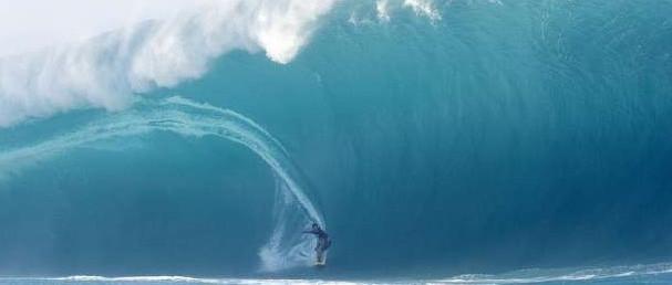 Böyle büyük dalga gördünüz mü?