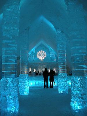 Buz Otel mimarisiyle büyülüyor