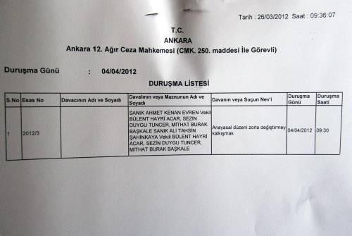 12 Eylül davasından ilk kareler