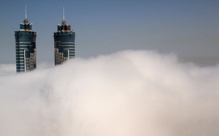 Bulutların üstünde bir şehir