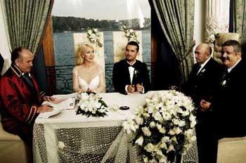 Seda Sayan ile Onur Şanın nikah töreni