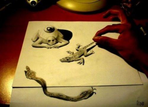 İnanılmaz 3 boyutlu çizimler