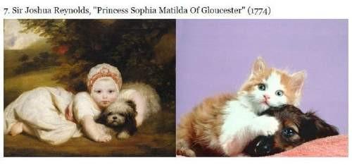 Kediler Sanat Eserlerini Taklit Ederse