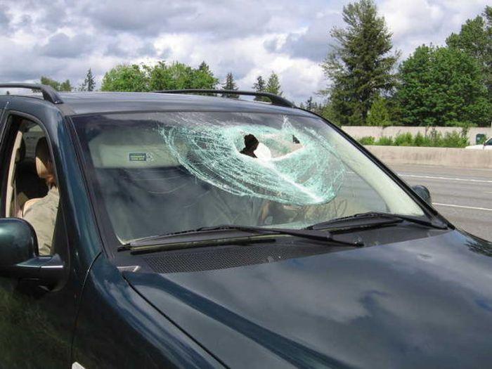 Arabadakiler neye uğradığına şaşırdı