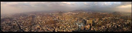 400 metre yüksekten panoramik Mekke