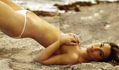 Plajda sıcak dakikalar!