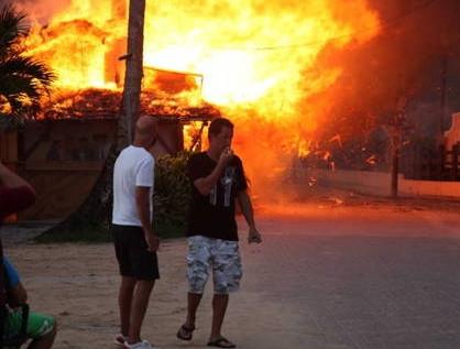 Dominikte büyük yangın!