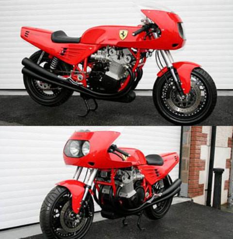 Dünyanın tek Ferrari motosikleti!