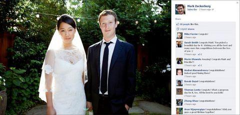 Mark Zuckerberg evlendi!
