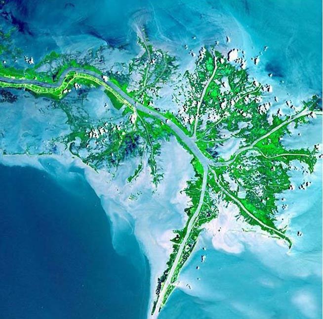 Uzaydan çekilen nehir fotoğrafları