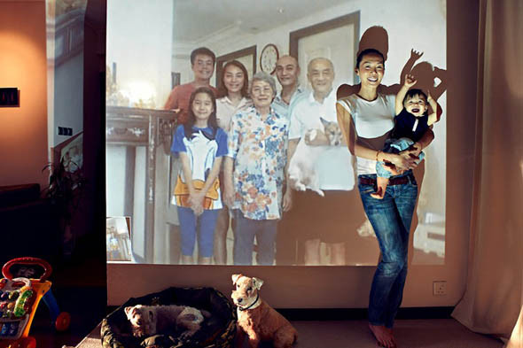Yeni nesil aile fotoğrafı