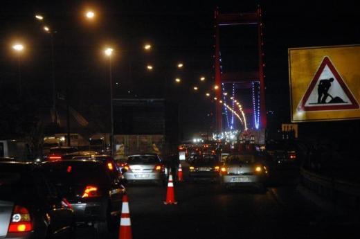 Fatih Sultan Mehmet Köprüsünde çalışma başladı