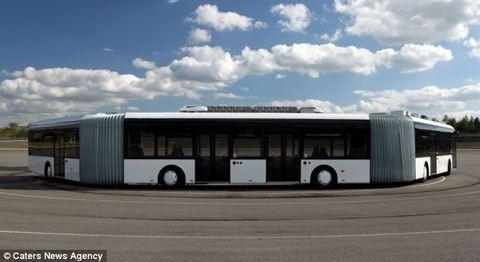 İşte dünyanın en uzun yolcu otobüsü!