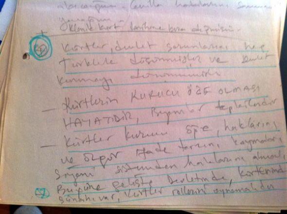 Kaplan Öcalanla görüşme notlarını yayınladı