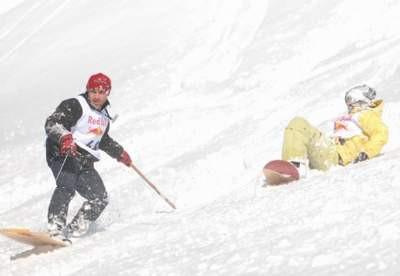 Lazboard, snowboarda karşı