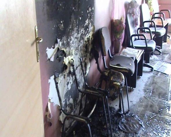 Okula molotoflu saldırı