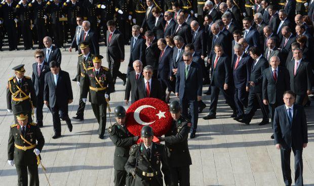 Anıtkabirde Cumhuriyet töreni