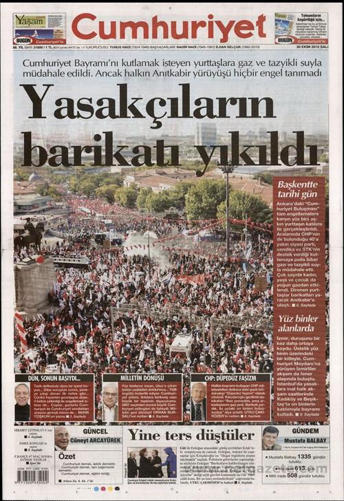 Gazeteler 29 Ekim olaylarını böyle gördü