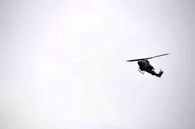 Askeri helikopter düştü !
