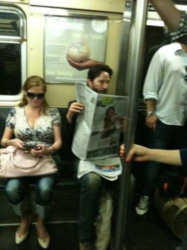 Metroda ünlü var