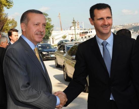 Erdoğan ve Esadın kareleri