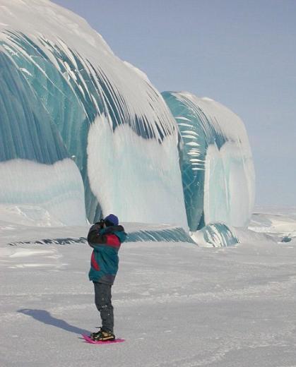Doğanın mucizesi mavi buzdağı