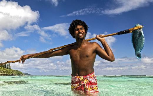 Yerlilerin ilginç avlanma tekniği