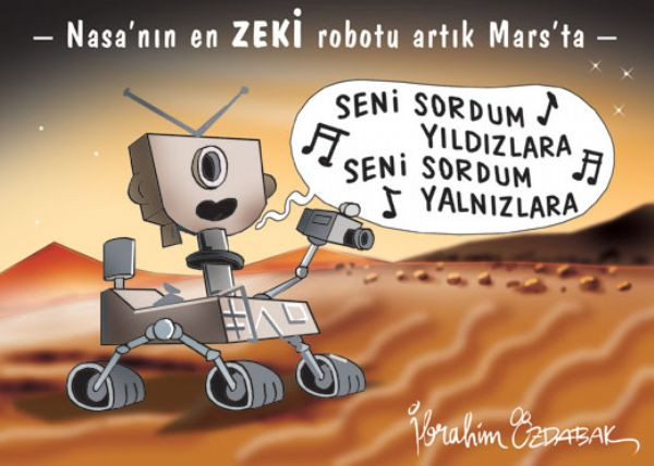 Mars karikatürleri sizi kopartacak
