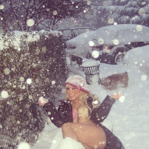 Cicişler kar altında!