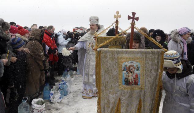 Ortodokslar, İsa'nın vaftizini kutluyorlar