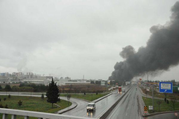 Aksa Fabrikasında yangın!