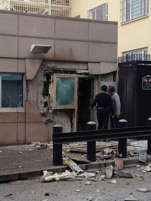 Amerika Büyükelçiliği önünde patlama!