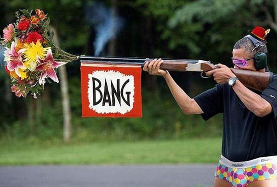 Obamanın av tüfeği alay konusu oldu
